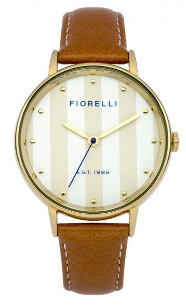 Fiorelli Ladies Gold PVD Stainless Steel Case and Multi Colour Dial FO017TG