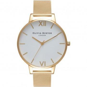 Olivia Burton Womens Ladies Big Dial Wrist Watch Gold Strap OB15BD84