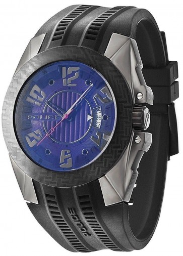 Police Mens Gents Toledo Wrist Watch Black PL94159AEU27P