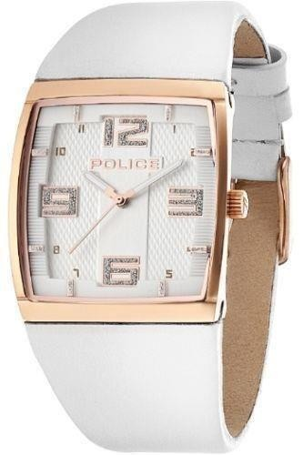 Police Vision X Women's Wrist Watch White Leather Strap White Dial 13937MSR/04