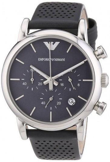 Emporio Armani Mens Chronograph Watch Grey Strap Grey Dial AR1735