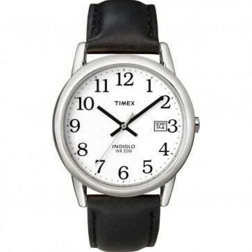 Timex Mens Gents Quartz Wristwatch With White Dial T2H281
