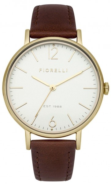 Fiorelli Ladies Womens Watch White Dial Brown Leather Strap FO005TG