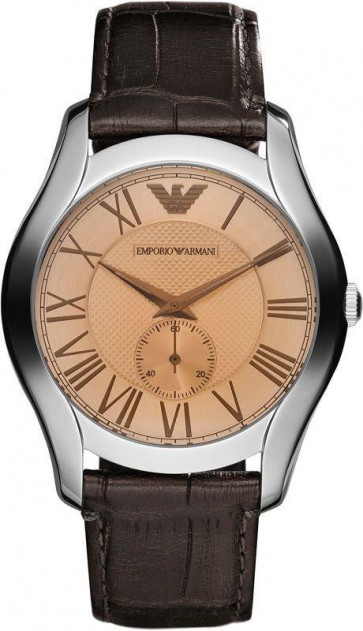 Emporio Armani Mens Watch Brown Leather Strap AR1704