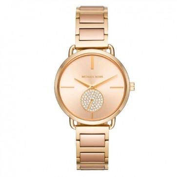Michael Kors Portia Womens Ladies Watch Two Tone Stainless Steel Bracelet Rose Gold Dial MK3706