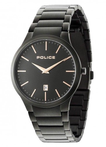 Police Gents Mens Horizon Wrist Watch Black Strap 15246JSB/02M