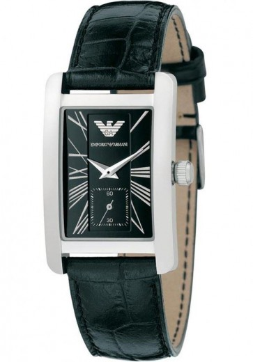 Emporio Armani Ladies Watch Black Strap Black Dial AR0144