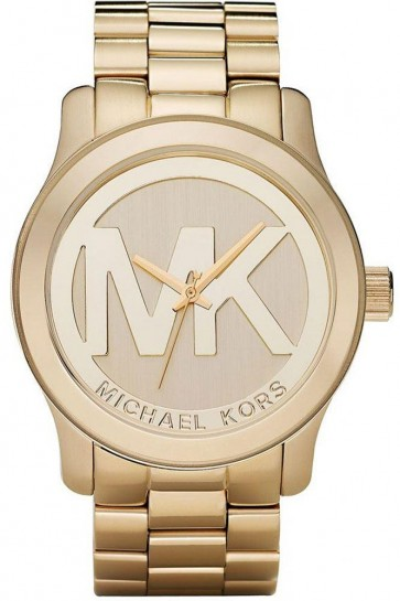 Michael Kors Ladies MK Logo Watch Gold Bracelet MK5473