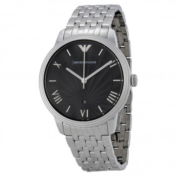 Emporio Armani Mens Watch Stainless Steel Bracelet Black Dial AR1614
