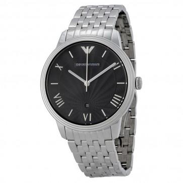 Emporio Armani Mens Watch Stainless Steel Bracelet Black Dial AR1614