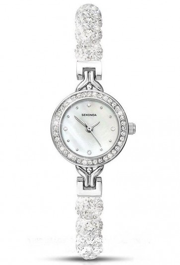 Sekonda Ladies Womens Wrist Watch Silver Face Metal Strap 4106
