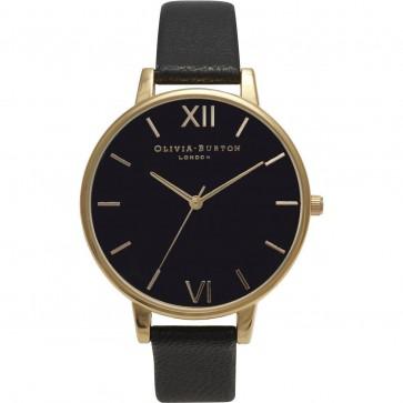 Olivia Burton Ladies White Big Dial Wrist Watch Black Dial OB15BD55