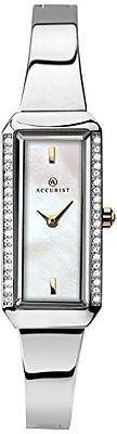 Accurist Ladies London Watch Mother of Pearl Dial Stainless Steel Bracelet 8025