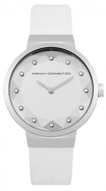 French Connection Ladies Womens Quartz Watch White Strap FC1290W
