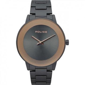 Police Mens Gents Sunrise Wrist Watch Gunmetal Grey Dial 15386JSU/61M