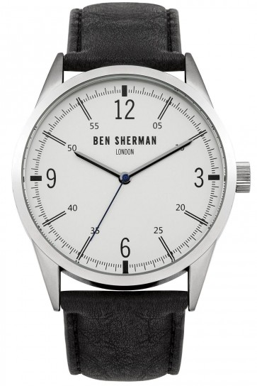 Ben Sherman Mens Gents Quartz Watch Watch Black Strap WB051B
