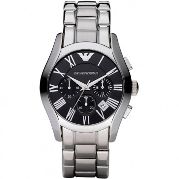 Emporio Armani Mens Chronograph Stainless Steel Strap Watch AR0673