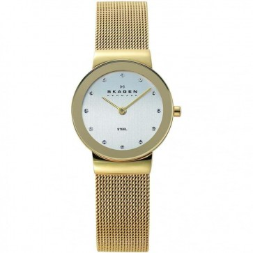 Skagen Ladies Freja Gold Stainless Steel Watch 358SGGD