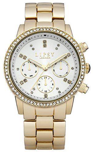 Lipsy Ladies Watch Gold Bracelet White Dial LP168