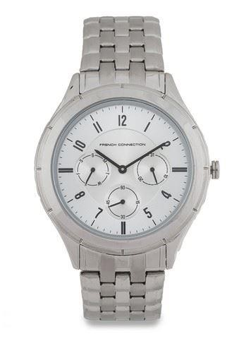 French Connection Mens Watch Silver Dial Stainless Steel Bracelet FC1187SM