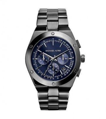 Michael Kors Reagan Ladies Chronograph Watch Stainless Steel Bracelet Blue Dial MK5994