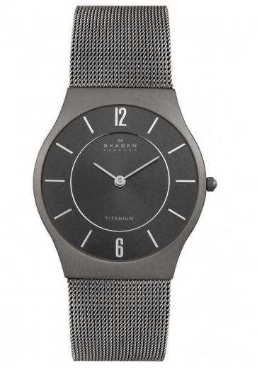 Skagen Men's Watch Titanium Mesh Bracelet Black Dial 233LTTM