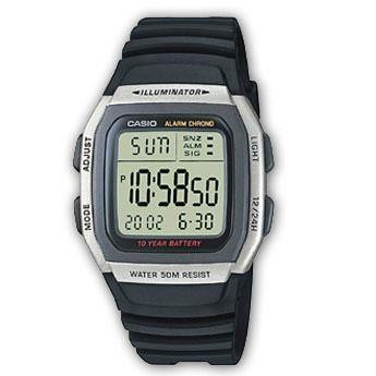 Casio Mens Digital LCD Watch Chronograph Alarm Dual Time W-96H-1AVES