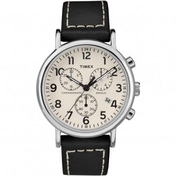Timex Men's Gent's Quartz Watch With Cream Dial Brown Strap TW2R42800