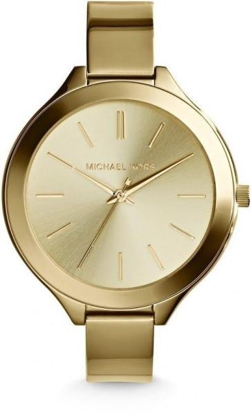 Michael Kors Slim Runway Gold Tone Ladies Womens Wrist Watch MK3275