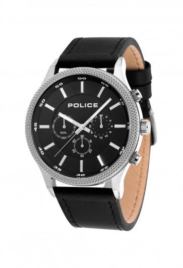 Police Mens Gents Pace Quartz Chronograph Wrist Watch Black Strap 15002JS/02