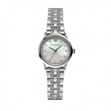 Emporio Armani Ladies Watch Stainless Steel Bracelet White Dial AR1803