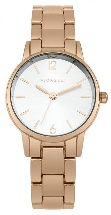 Fiorelli Ladies Womens Watch Rose Gold Strap White Face SFO003RGM
