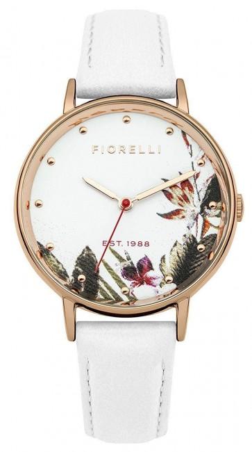 Fiorelli Womens Ladies Wrist Watch White Dial White Leather FO022WRG