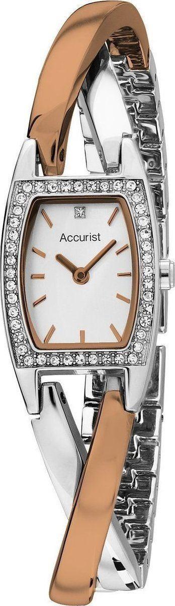 Accurist Ladies Watch White Dial Two Tone Bracelet LB1638P