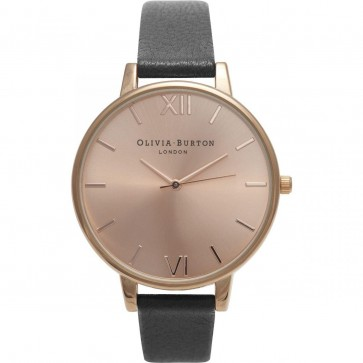 Olivia Burton Womens Ladies Big Dial Wrist Watch Rose Dial OB14BD27