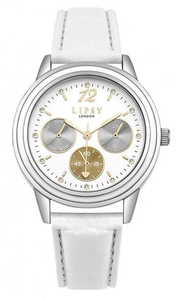 Lipsy Womens Wrist Watch White Dial White Strap SLP006W