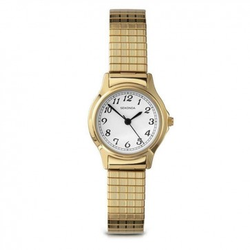 Sekonda Ladies Watch Gold Stainless Steel Bracelet White Dial 4134B