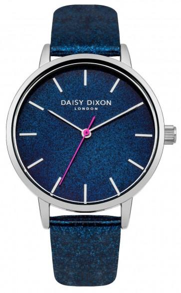 Daisy Dixon Womens Ladies Wrist Watch  Blue Face Strap Silver Dial DD032US