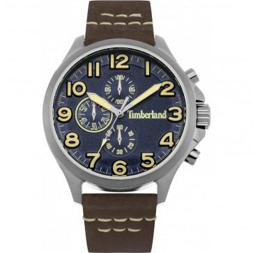 Timberland Mens Gents Brenton Wrist Watch Brown Strap 15026JS/03