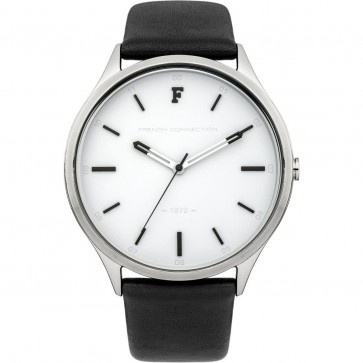 FCUK French Connection Mens Gents Wrist  Watch Black Strap FC1241BW