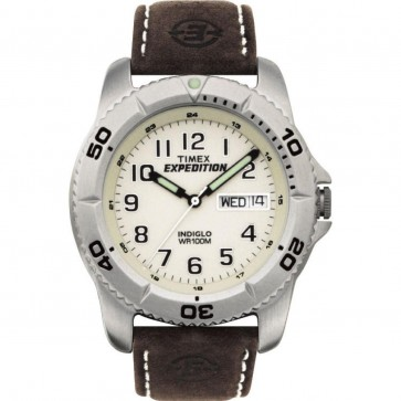 Timex Mens Gents Quartz Watch With Cream Dial T46681