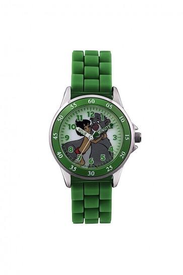 Childrens Kids Disney Jungle Book Wrist Watch Green Strap JBK3007