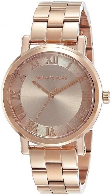 Michael Kors Norie Womens Ladies Watch Rose Gold Stainless Steel Bracelet Rose Gold Dial MK3561
