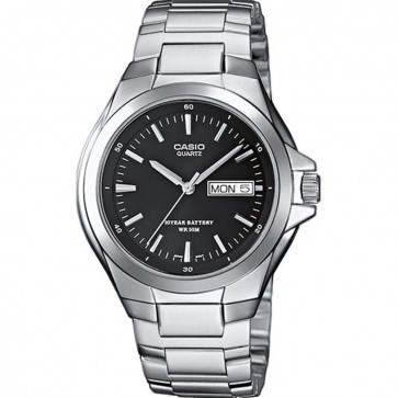 Casio Mens Watch Balck Dial Stainless Steel Bracelet MTP-1228D-1AVEF