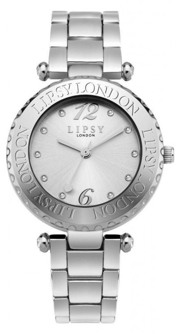 Lipsy Womens Ladies Wrist Watch Silver Dial Bracelet SLP003SM