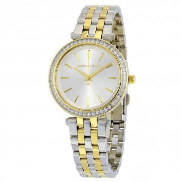 Michael Kors Mini Darci Ladies Watch Two Tone Bracelet Pearl White Dial MK3405