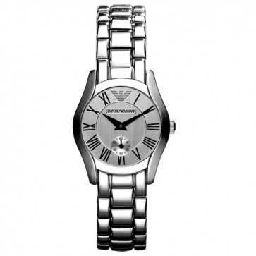 Emporio Armani Ladies Watch Stainless Steel Bracelet White Dial AR0698