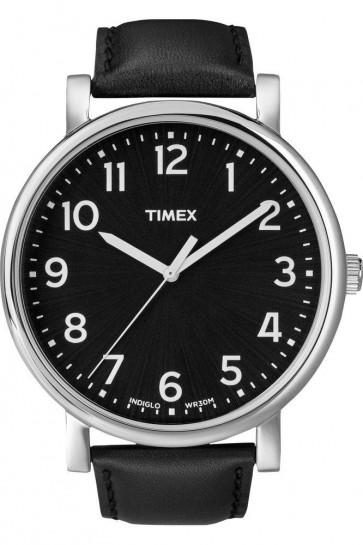 Timex Orignals Mens Watch Black Strap Black Dial T2N339