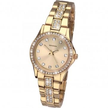 Sekonda Ladies Womens Wrist Watch Gold Face Gold Strap 2020