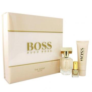 Hugo Boss The Scent Womens Ladies EDP-S 30ML + Body Lotion + NAIL POLISH 4.5ML